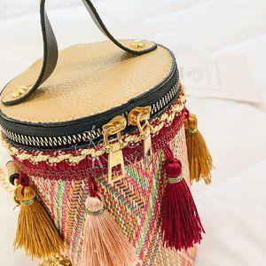 "Karis' Kloset Bags - ""Staycation"" Tassle red bucket bag purse"